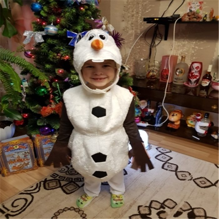 Olaf Costume Snow Man Wearable Suit for Kids