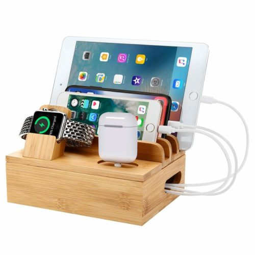 Wooden Docking Station Charging Docks