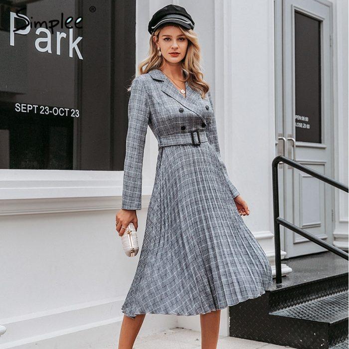 Plaid Dress Ladies Fashionwear