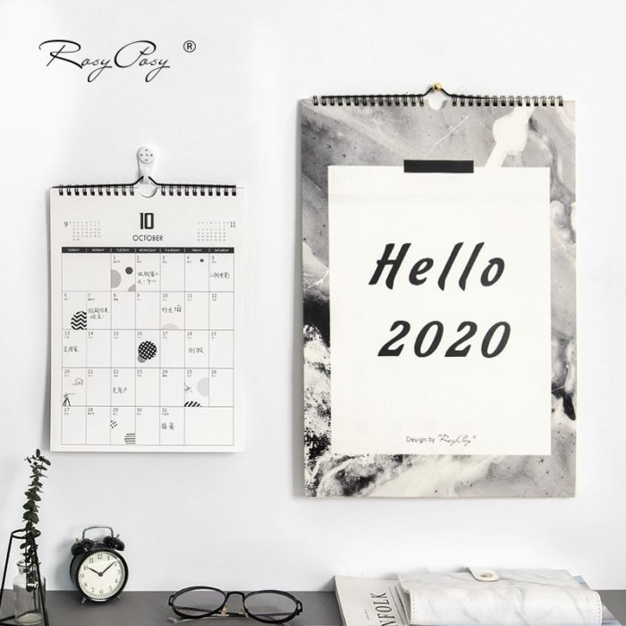 2020 Wall Calendar Daily Notes