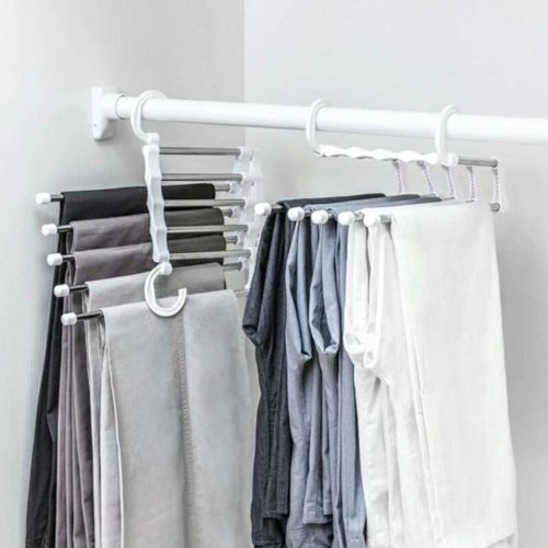 Pants Rack 5-Rod Stainless Hanger