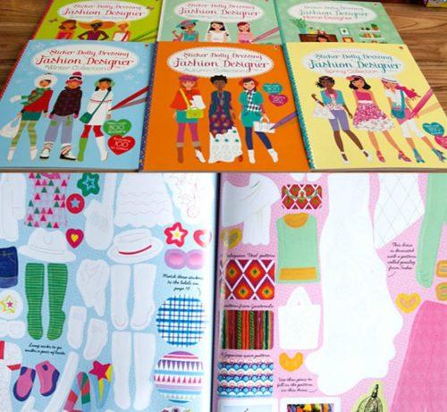 Fashion Design Book Dress Stickers