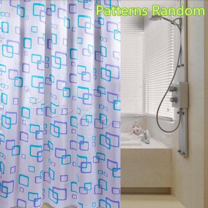Bathroom Shower Curtain with Curtain Clips