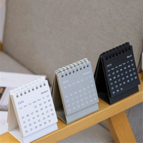 Desk Calendar 2020 Minimalist Design