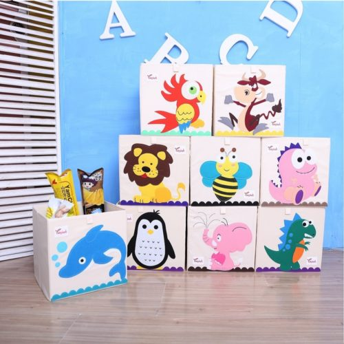 Toy Bin Organizer 3D Embroidery Storage Box