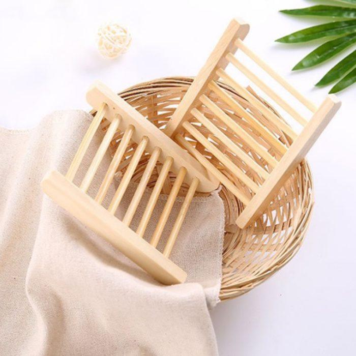 Wooden Soap Dish Shower Holder