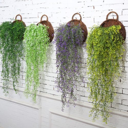 Fake Hanging Plants Flower Vine Decor