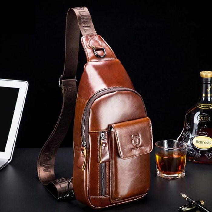 Mens Crossbody Bag Leather Handbag