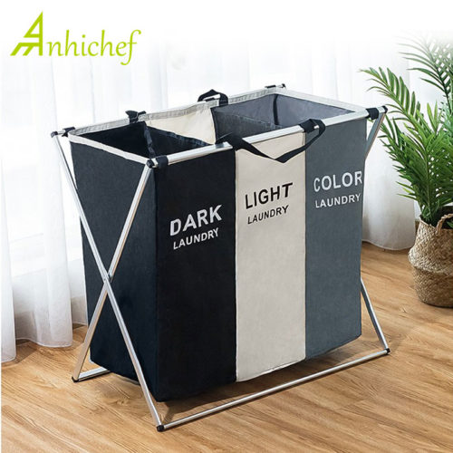Laundry Basket Sorter Three-Tone Segregation
