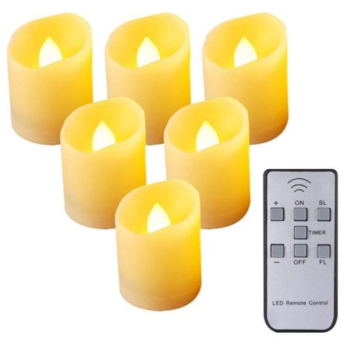 Flameless Candles with Timer Flickering Lights