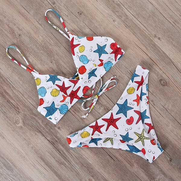 Two Piece Bikini Ladies Swimwear