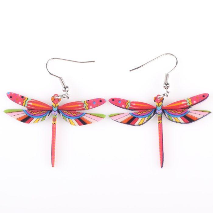 Dragonfly Earrings Long Dangle Earrings