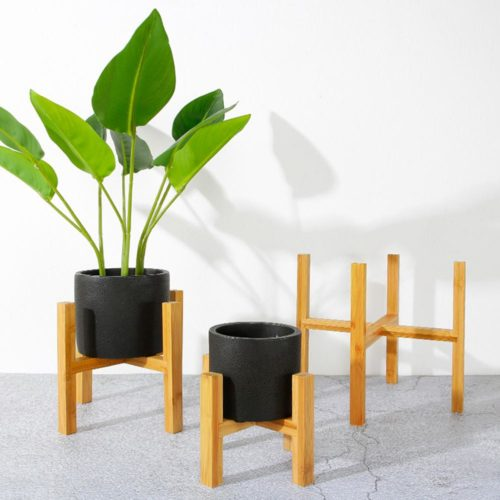 Plant Pot Stand Wooden Rack