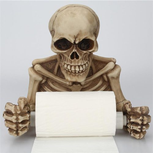 Skeleton Toilet Paper Holder Wall-Mount