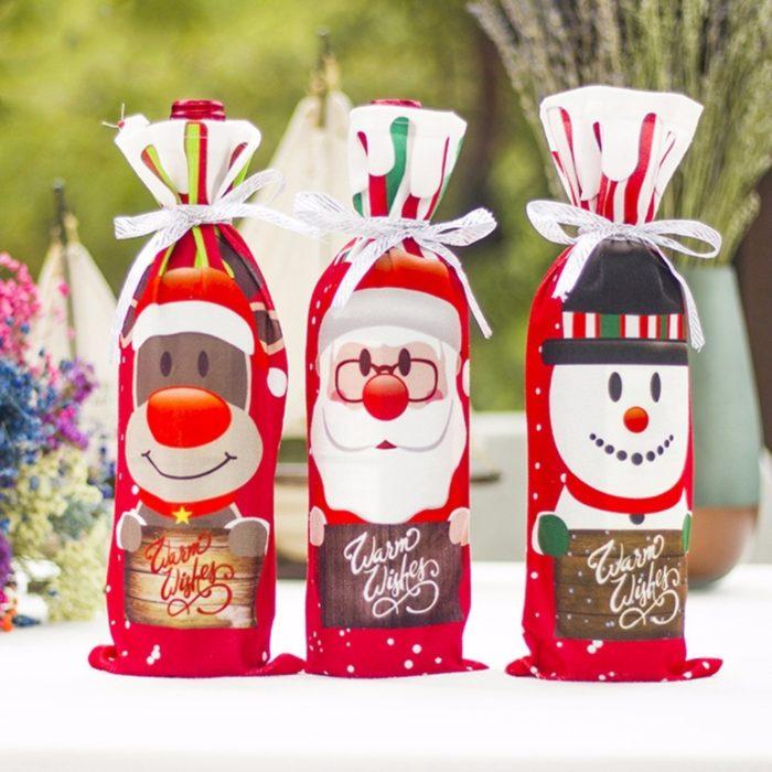 Wine Bag Christmas Bottle Cover