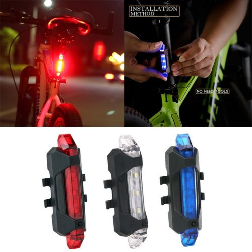 Bicycle Tail Light LED Rechargeable Battery