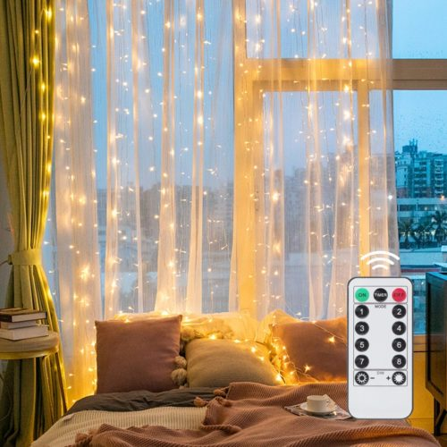Curtain String Lights USB Remote Control