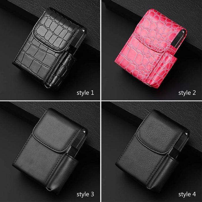 Leather Cigarette Case Tobacco Holder