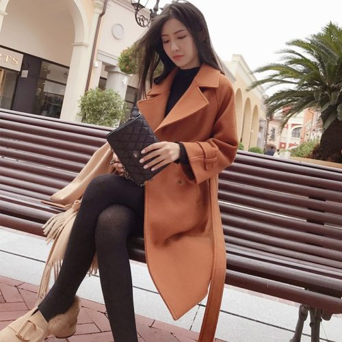 Long Overcoat For Ladies Fashion Apparel