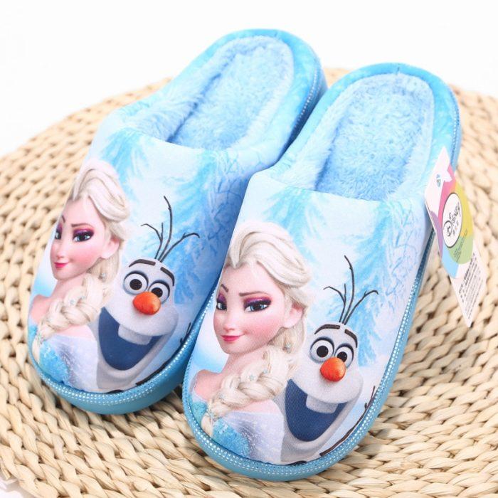 Girls House Slippers Frozen Design