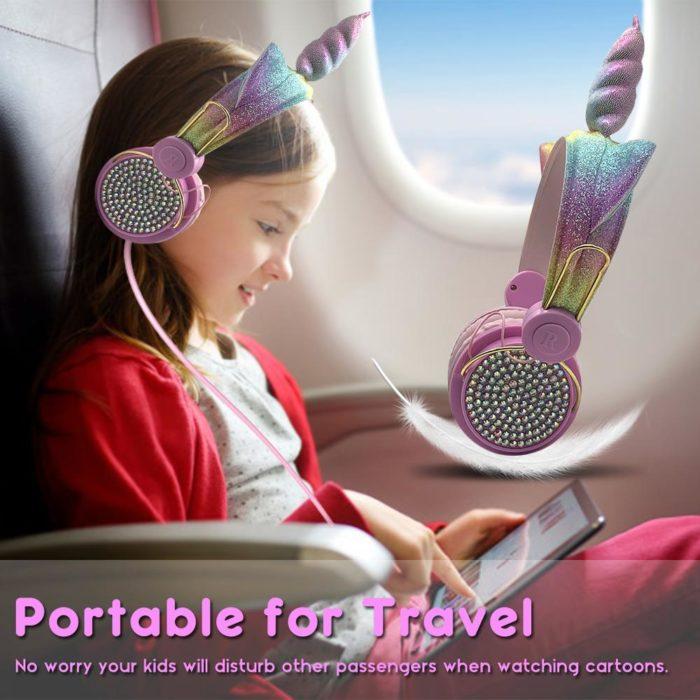 Cute Headphone Girls Unicorn Earphone