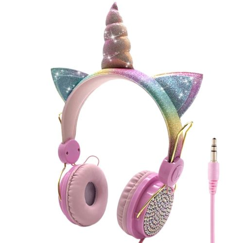 Cute Headphone Girls Unicorn Earphone