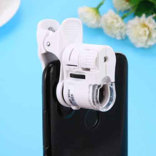 Phone Microscope 60X Clip-On Accessory