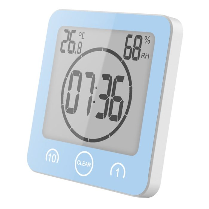 Bathroom Clock Digital Waterproof Device