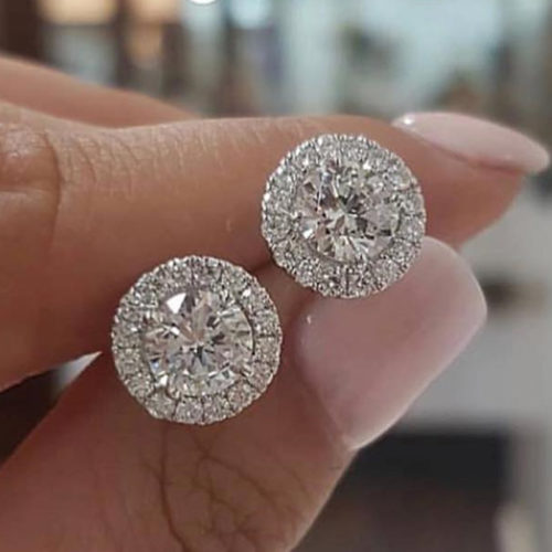 Crystal Stud Earring Ladies Jewelry