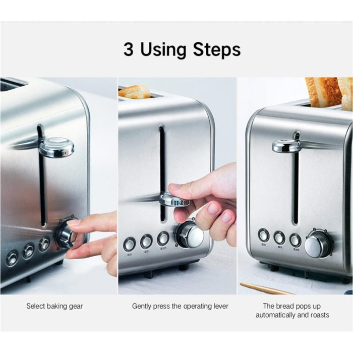Bread Toaster Double-Sided Appliance