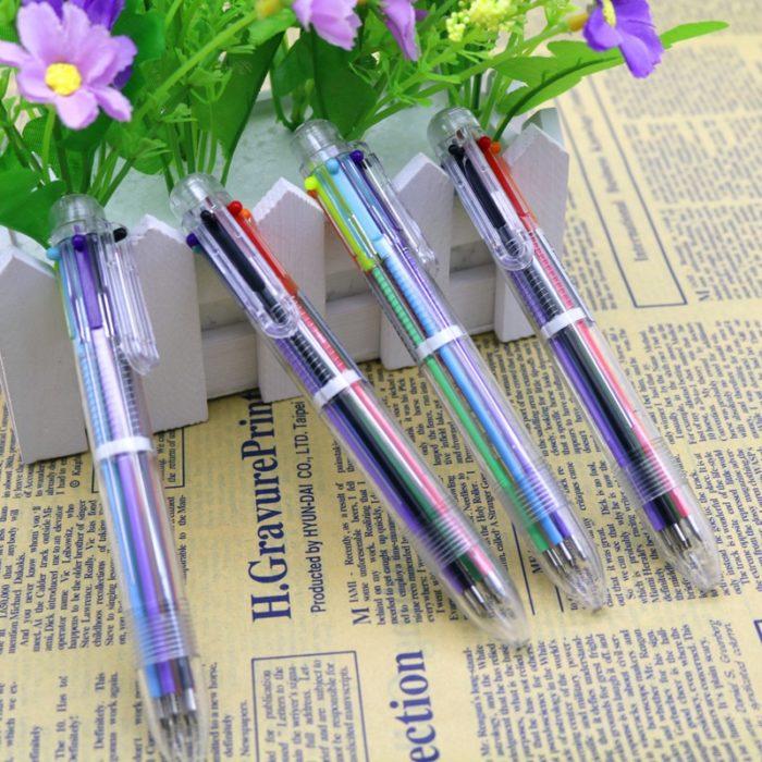 Multi Color Pen 6-Color 2PC Set