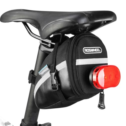 Bike Saddle Bag with Tail Light