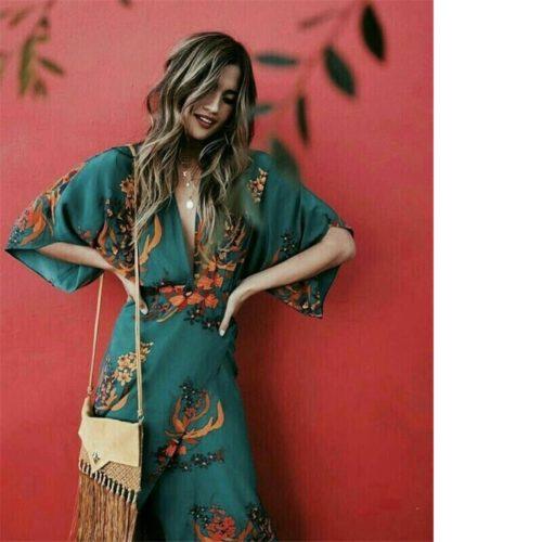 Floral Wrap Dress Ladies Fashionwear