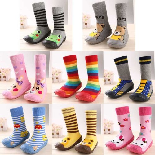Kids Sock Shoes Rubber Sole