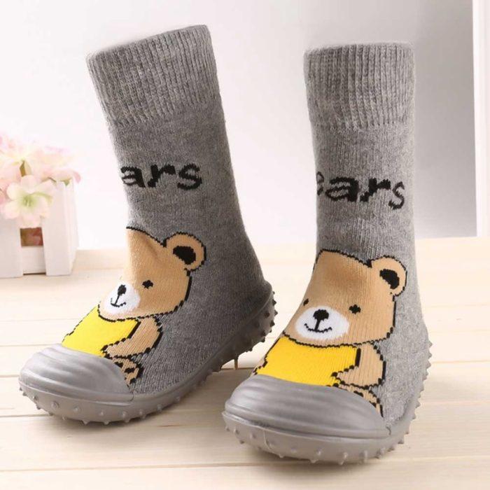 Kids Sock Shoes Rubber Sole