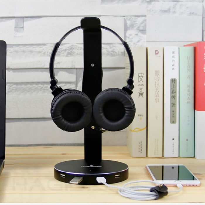 Headset Stand with USB Port