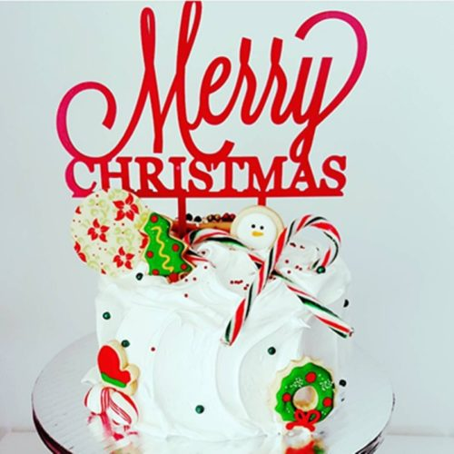 Christmas Cake Topper Acrylic Decoration
