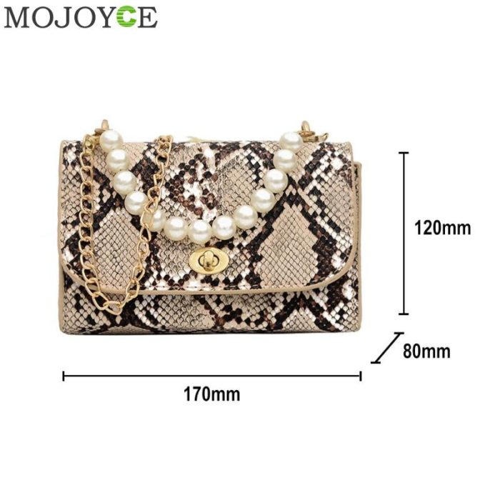 Snake Print Bag Leather Handbag