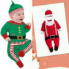 Baby Santa Outfit Unisex Christmas Costume