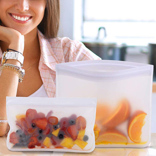 Silicone Bag Reusable Food Zip Lock