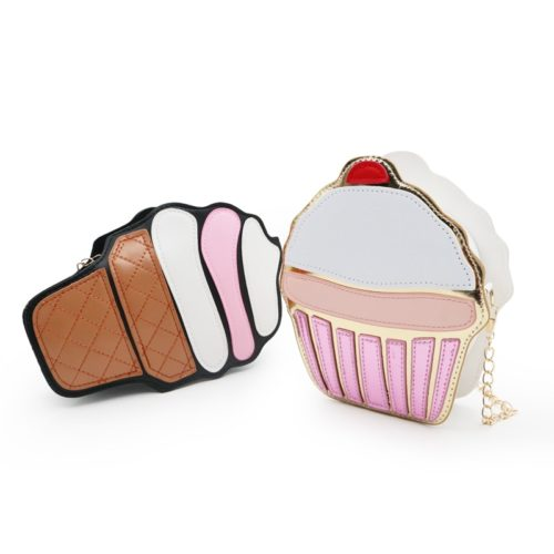 Sling Bag for Kids Cupcake Ice Cream Design