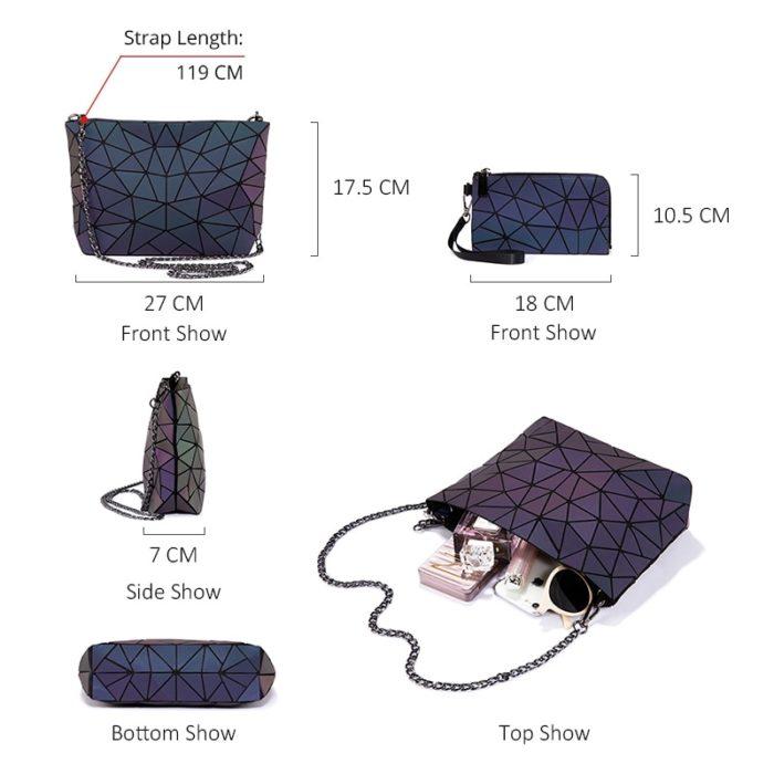 Purse and Wallet Set Ladies Bags (3Pcs)