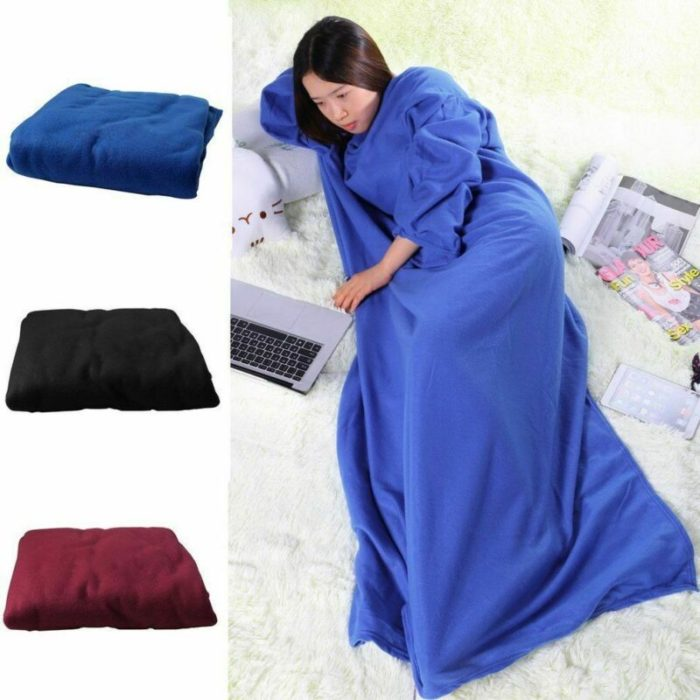 Blanket with Sleeves Fleece Cloth