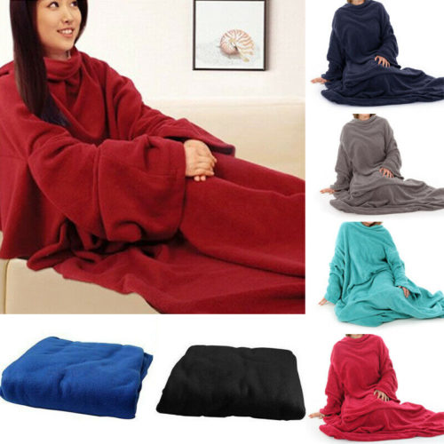 Blanket with Sleeves Fleece Cloth