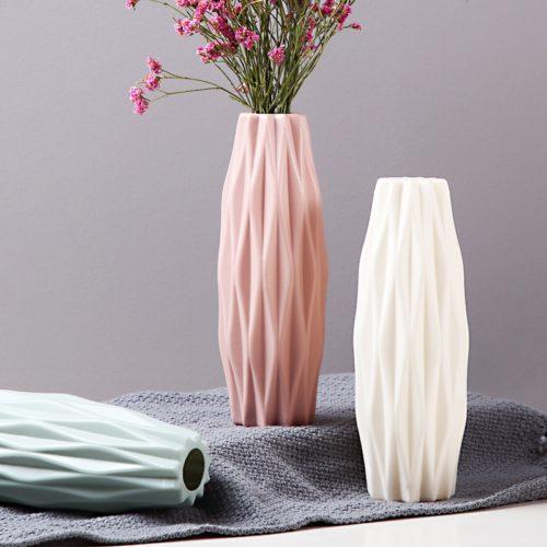 Plastic Flower Vase House Ornament