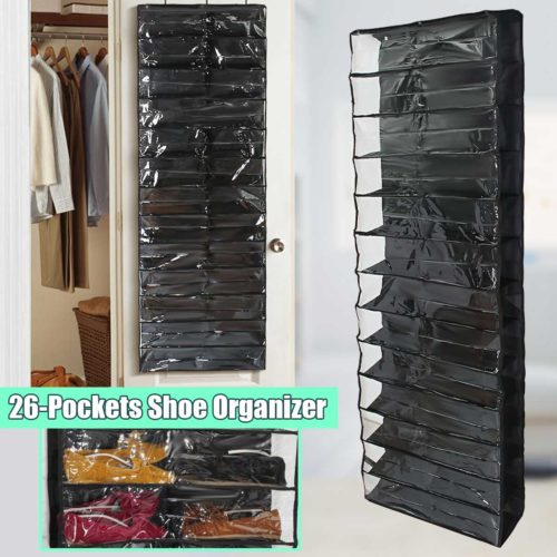 Hanging Shoe Rack 26-Pocket Storage