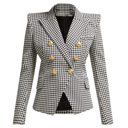 Plaid Blazer Fashionwear For Women