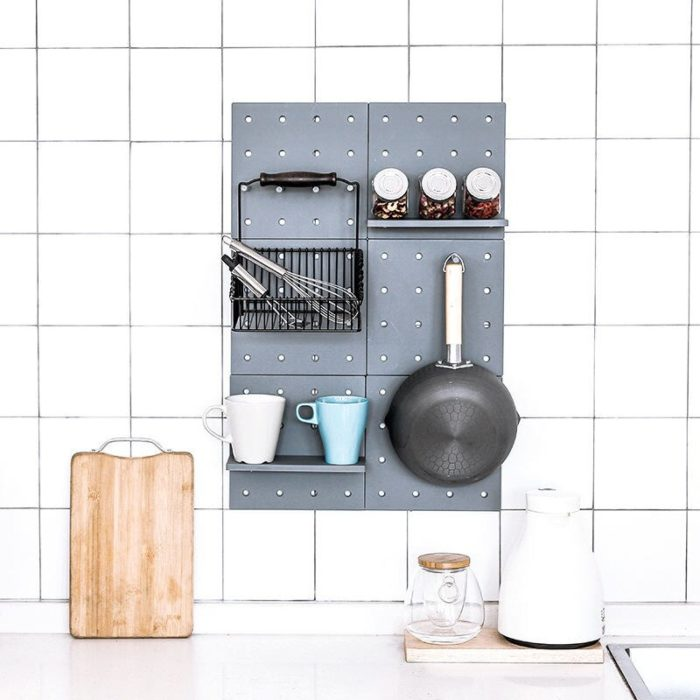 Board with Holes Wall Storage