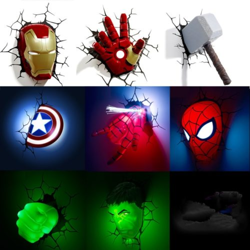Avengers Wall Lights LED Night Lamp
