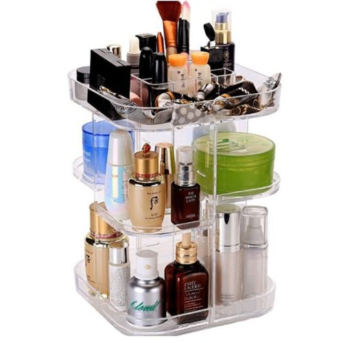 Acrylic Makeup Storage Rotating Organizer